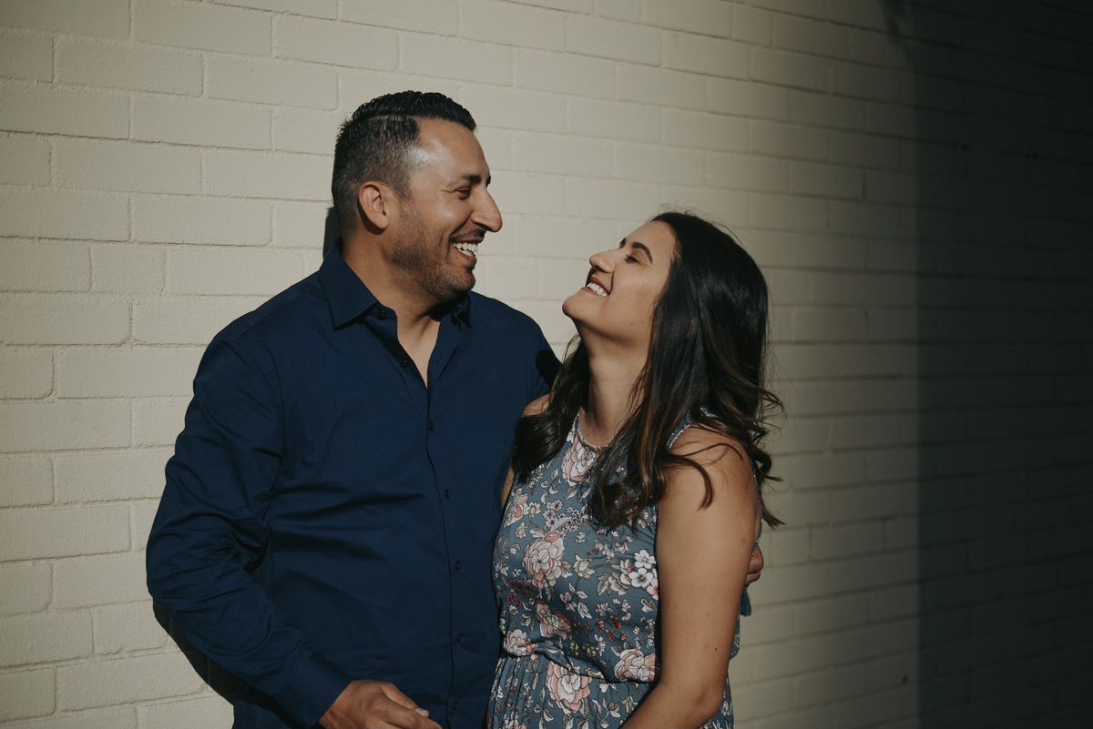 Latin couple engagement photography Downtown Santa Ana-1