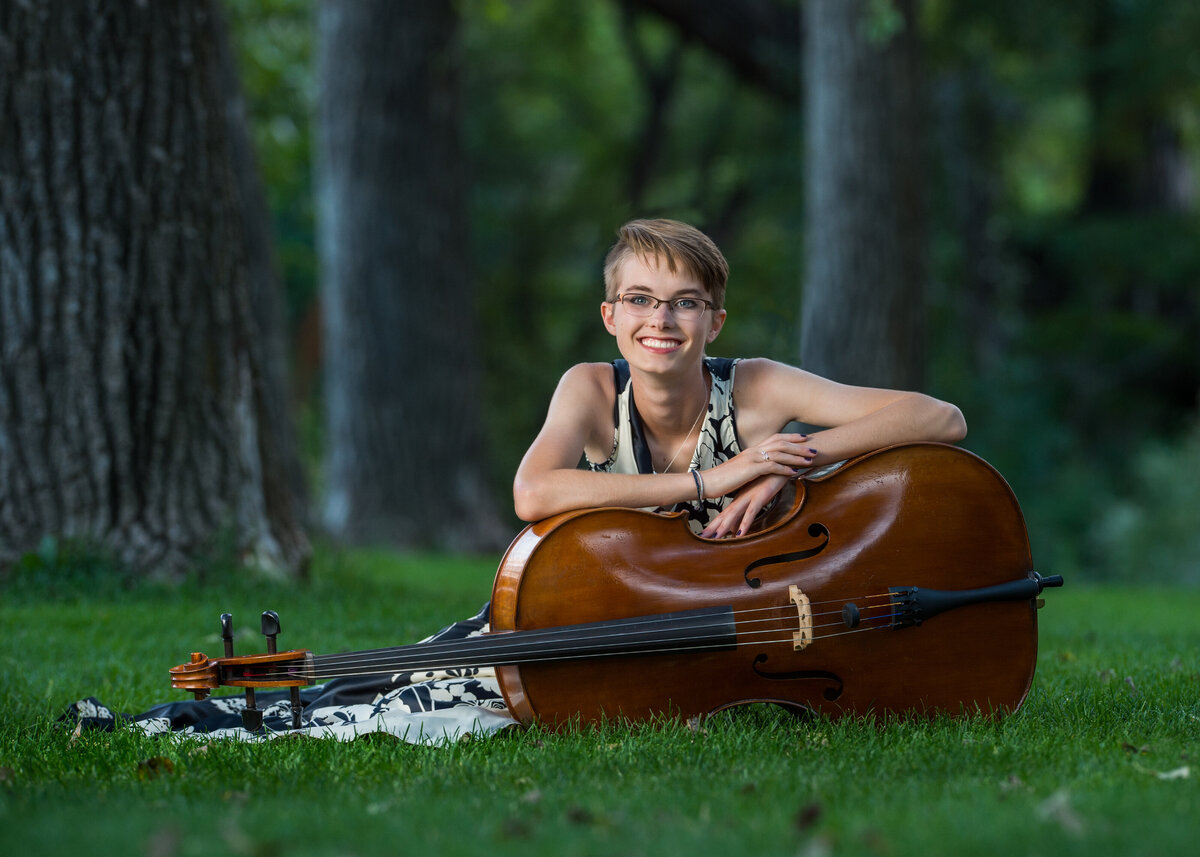 Denver Senior Photo Cello Nature