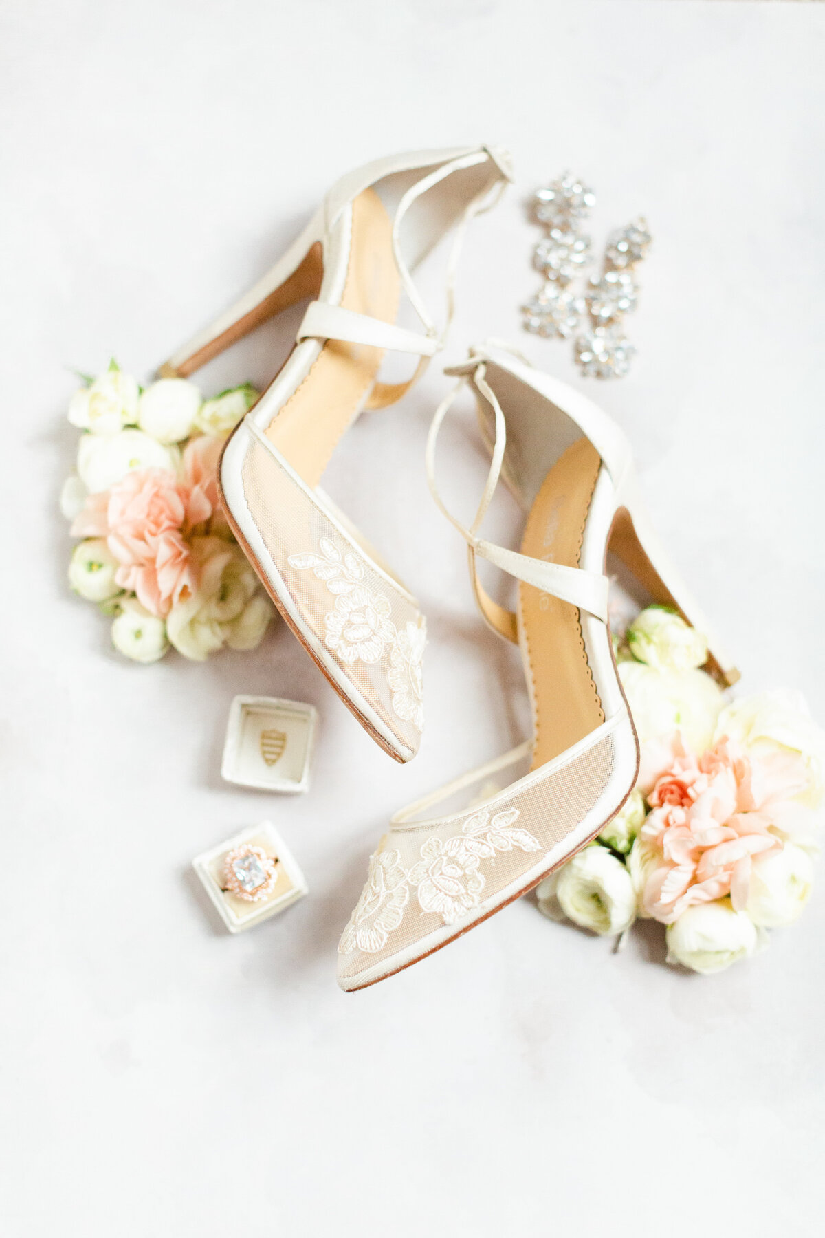 Bella Belle wedding shoes at a wedding in Ohio photographed by Ohio wedding Photographers, The Cannons Photography