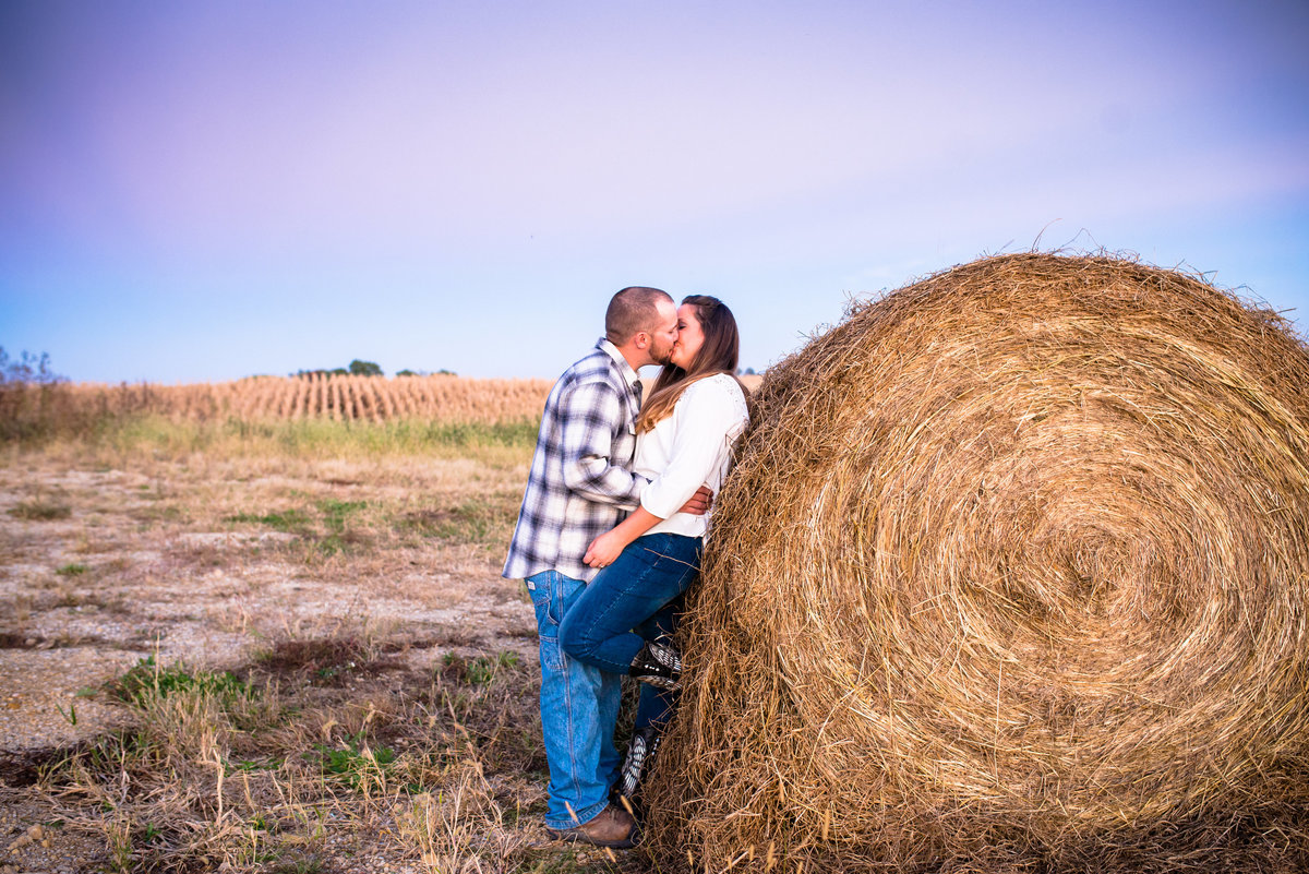 Hay bale engagement picture