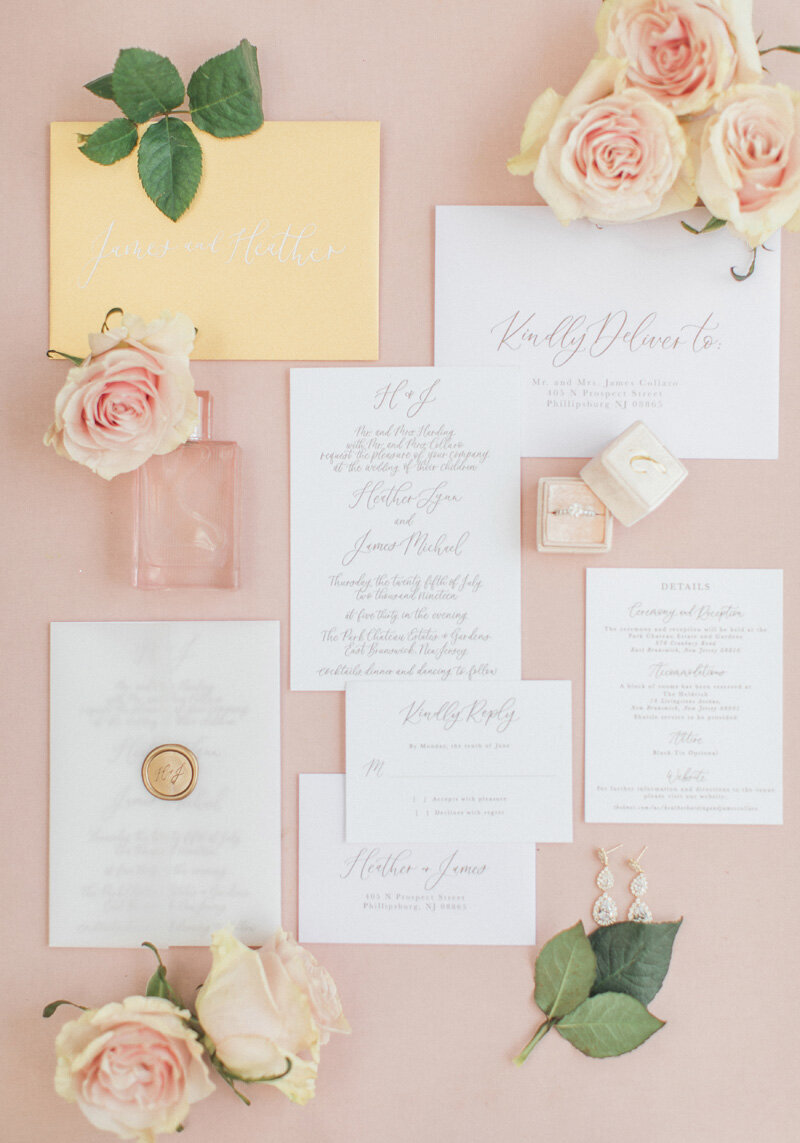 www.pirouettepaper.com |  Wedding Invitations, Calligraphy nd Wedding Stationery |Park Chateau New Jersey Wedding Wedding | _ Pirouette Paper Company | Dyanna Lamora Photography _ 38