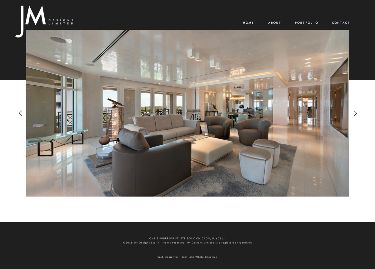 Sophisticated minimal website design by Tribble Design Co.