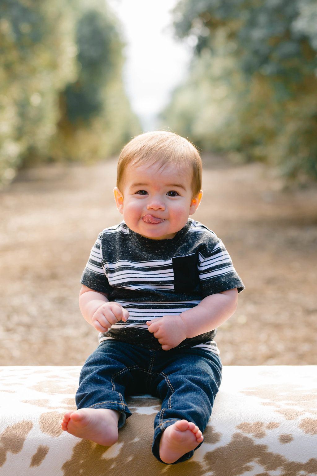 6 month photos by Megan Helm Photography