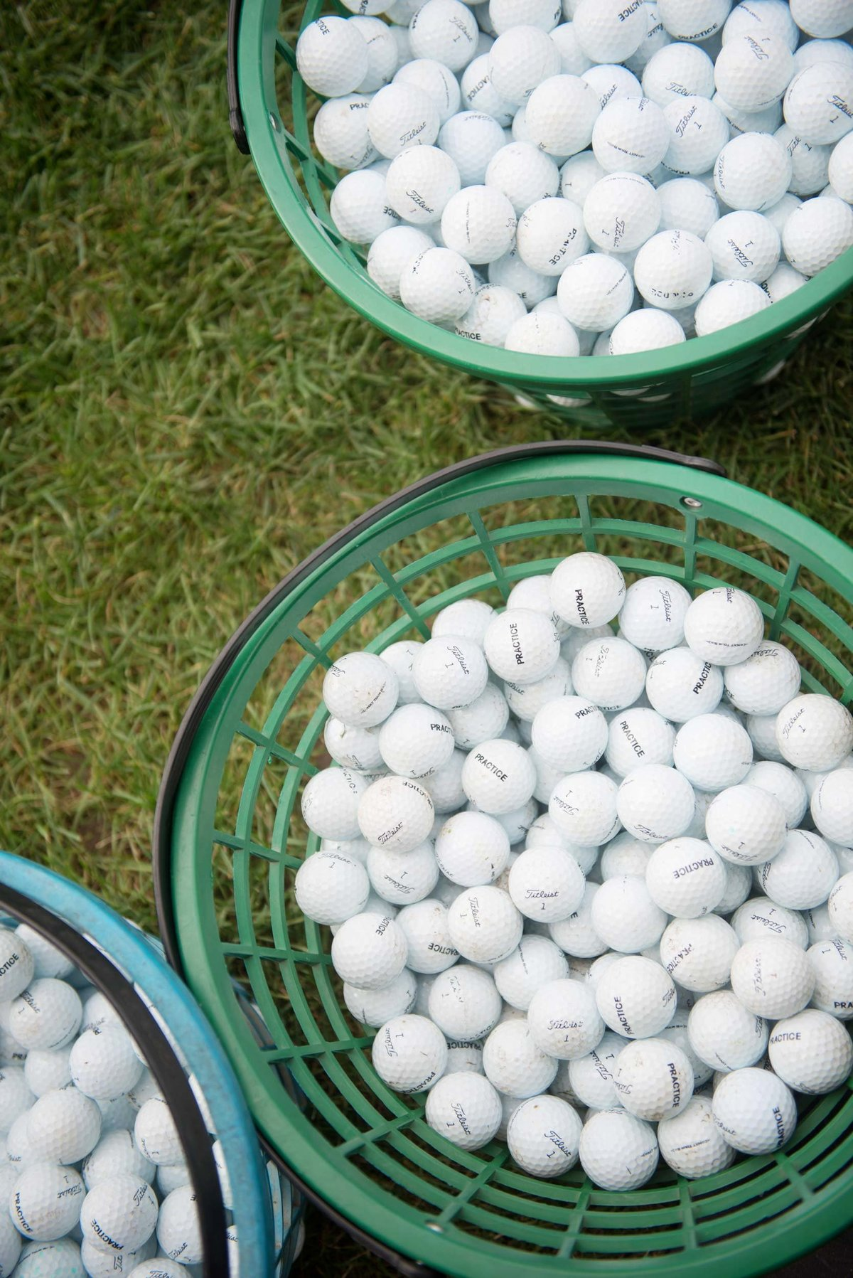 Buckets of golf balls at Huntington Crescent Club