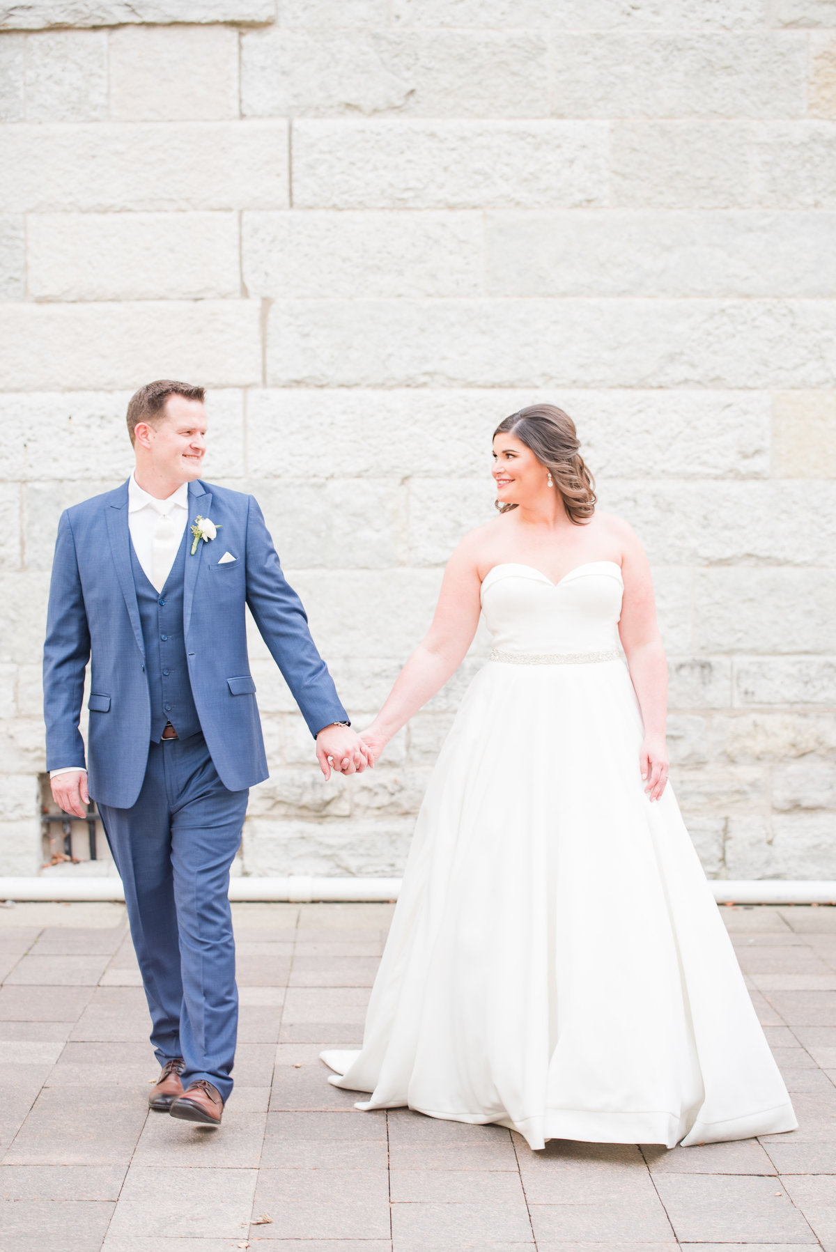 Newlywed Portraits Cait Potter Creative LLC Milltop Potters Bridge Noblesville Square Courthouse Wedding-29