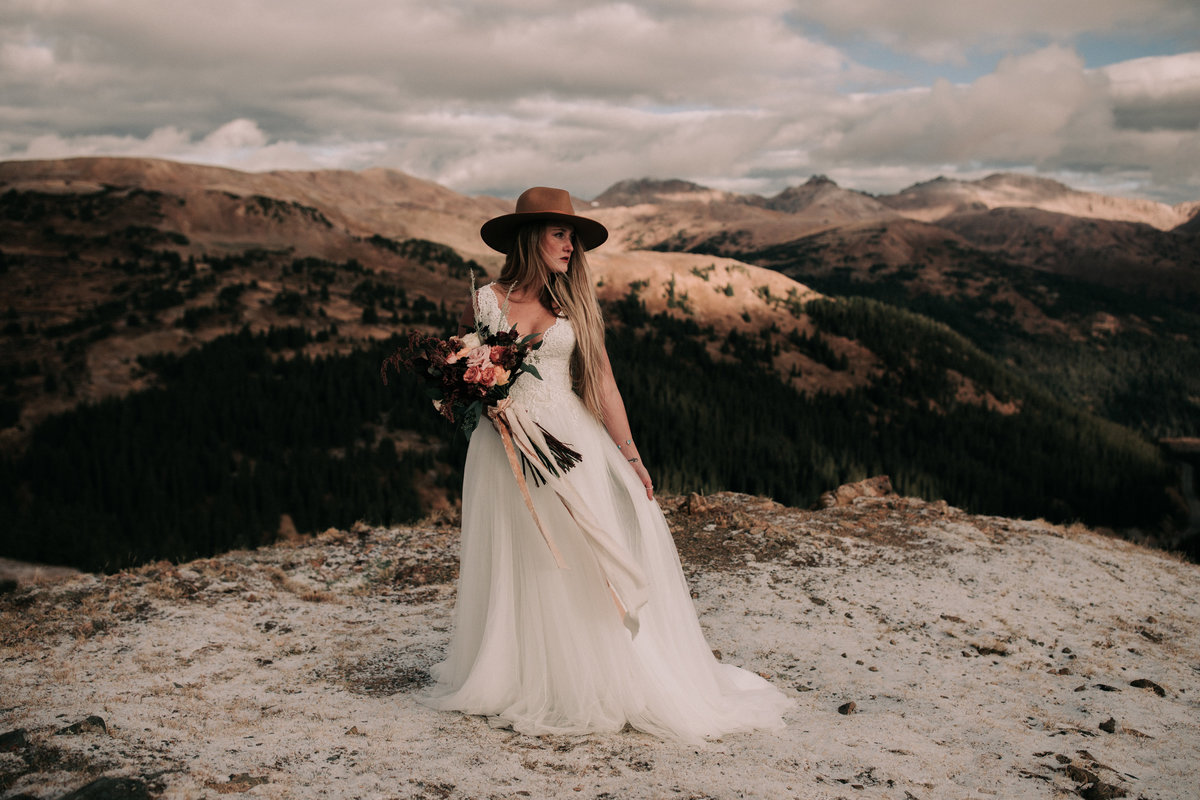 Bridal fashion Loveland Pass Colorado