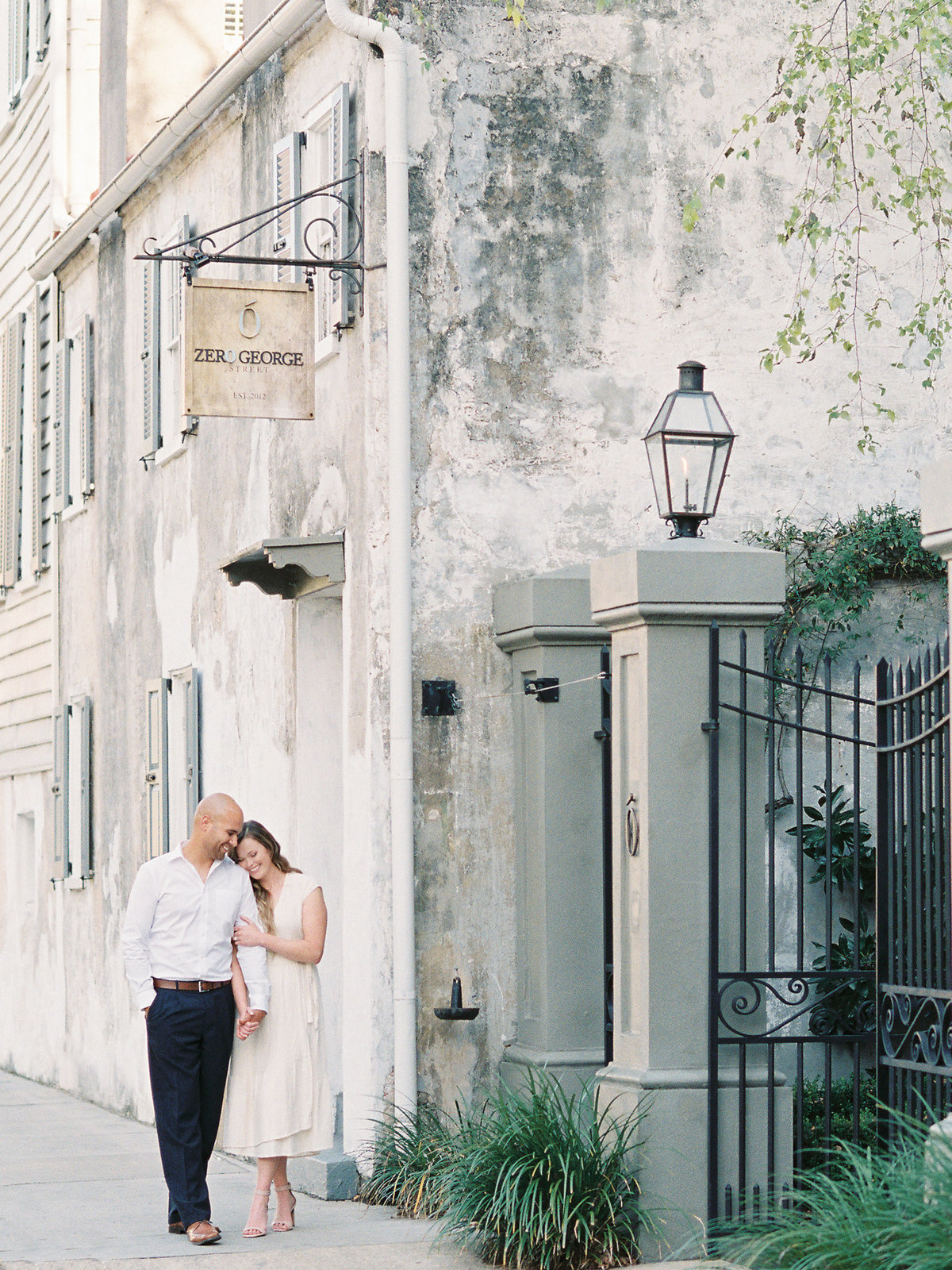 Charleston film photographer engagement