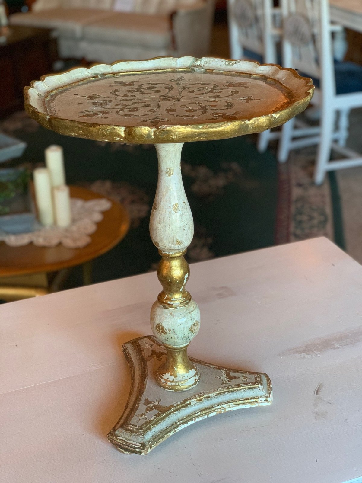 tall antique cake stand