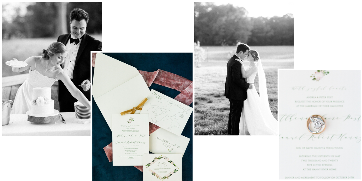 Intimate summer wedding on the Virginia riverside