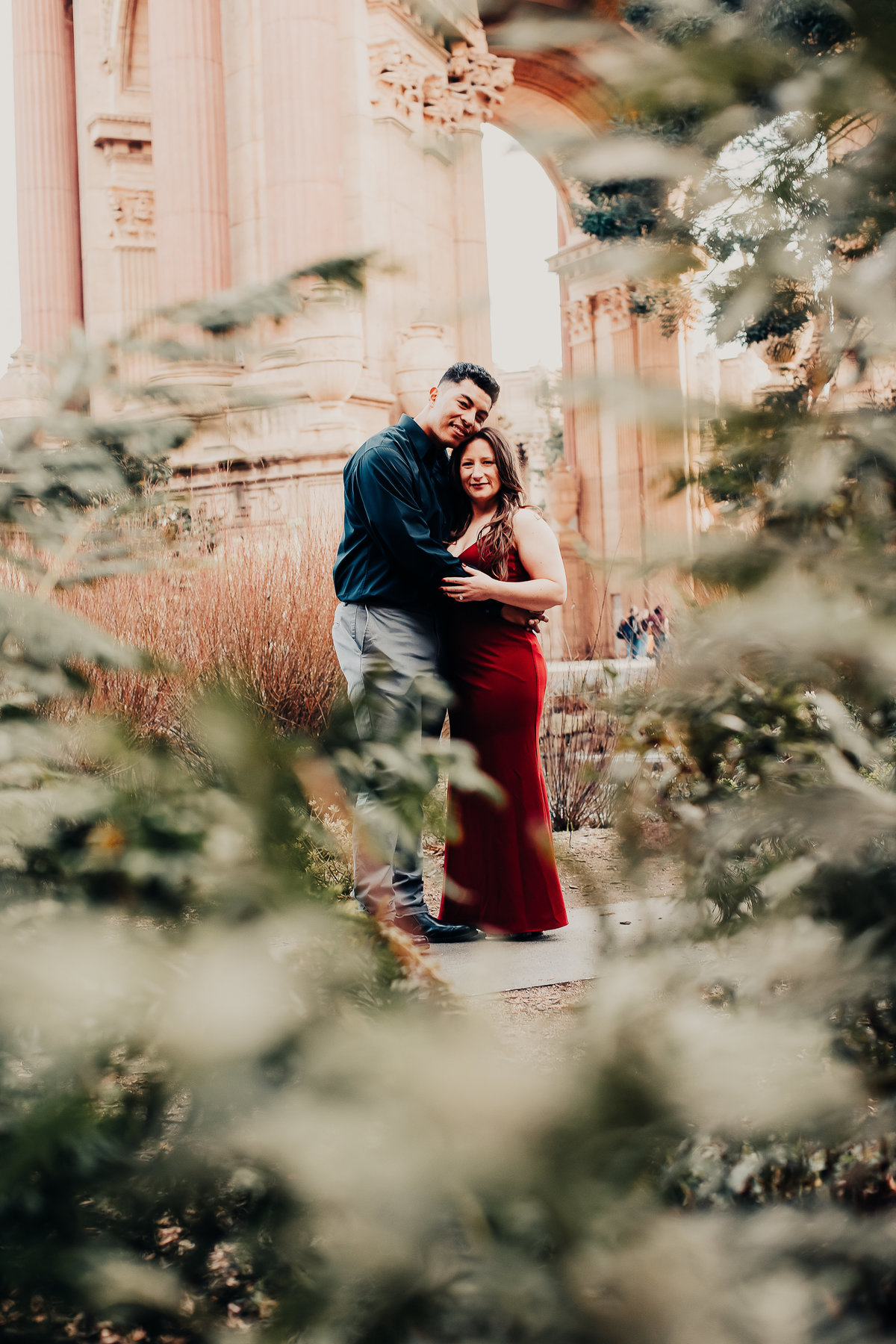 Palace of Fine Arts engagement shoot