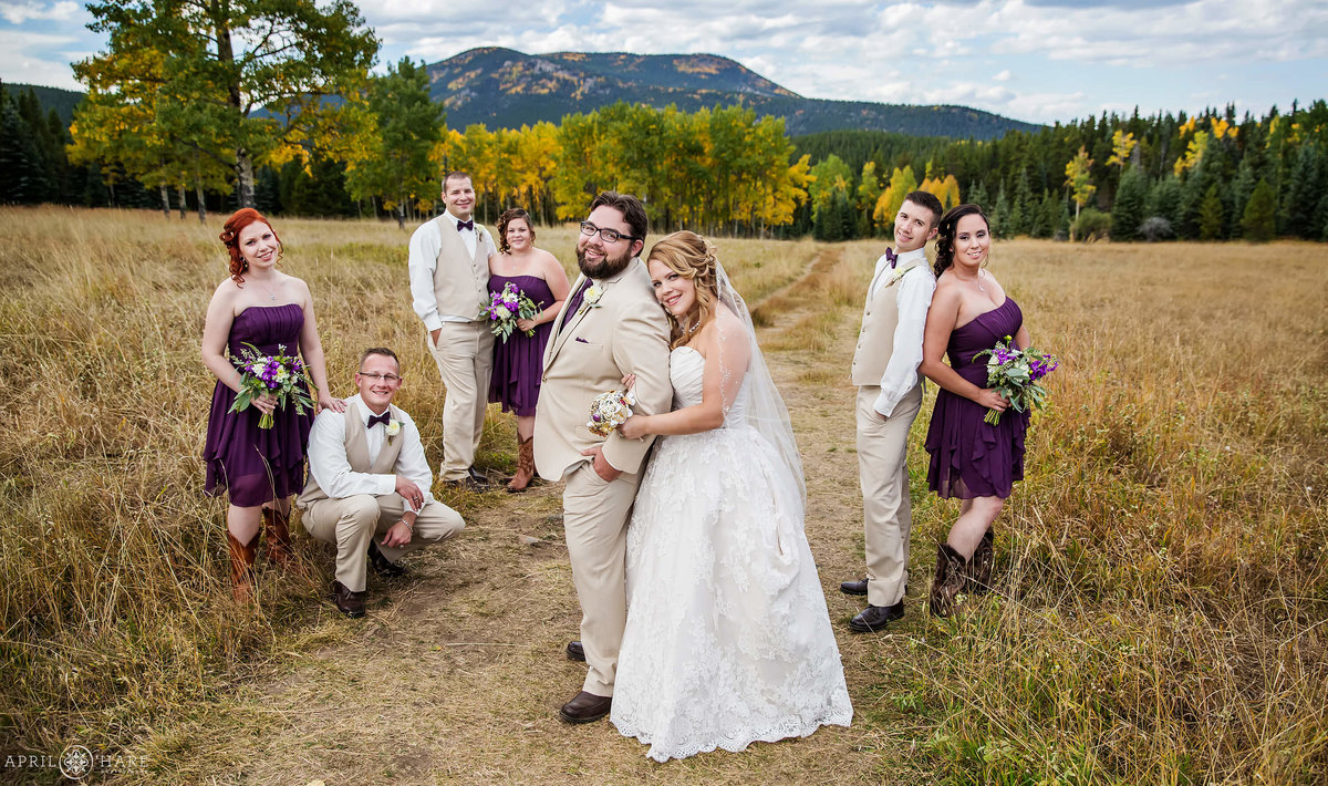 Autumn Mountain Wedding in Evergreen Colorado