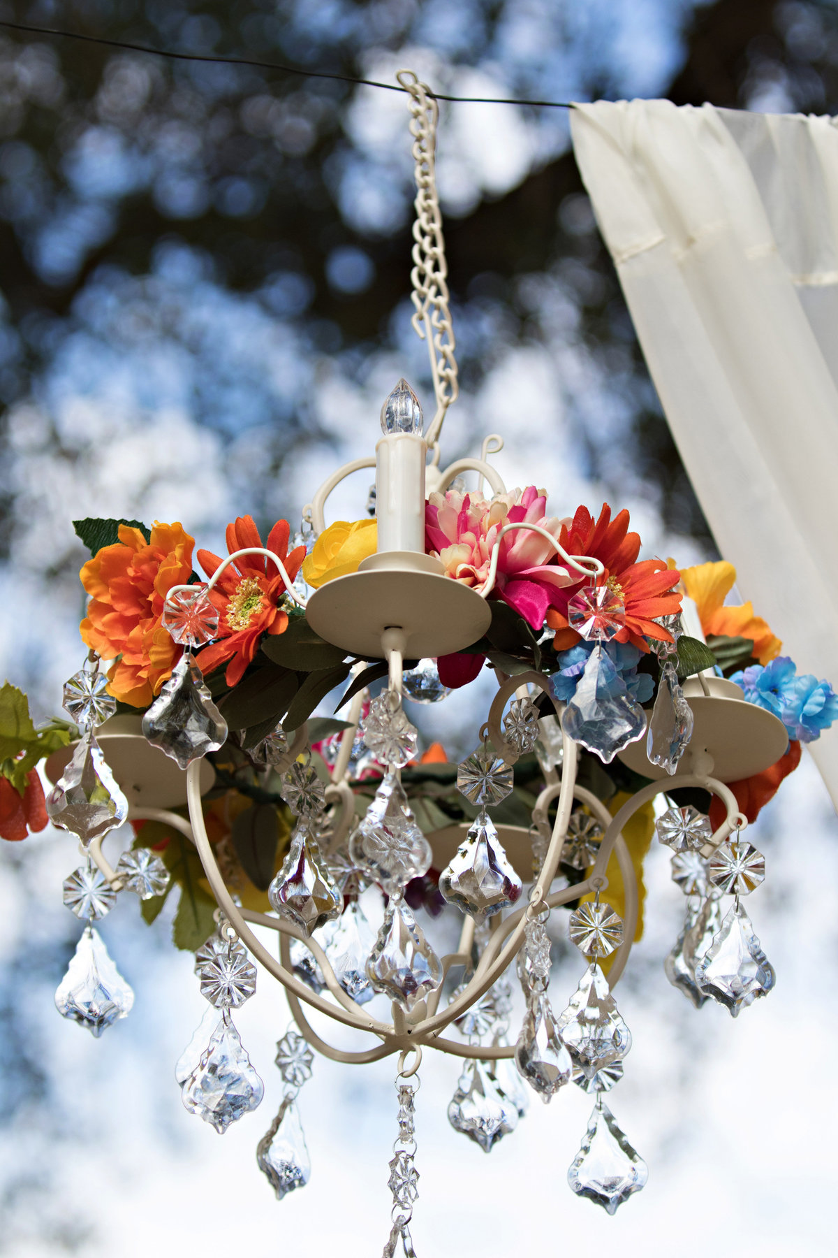 wedding chandelier, ceremony chandalier