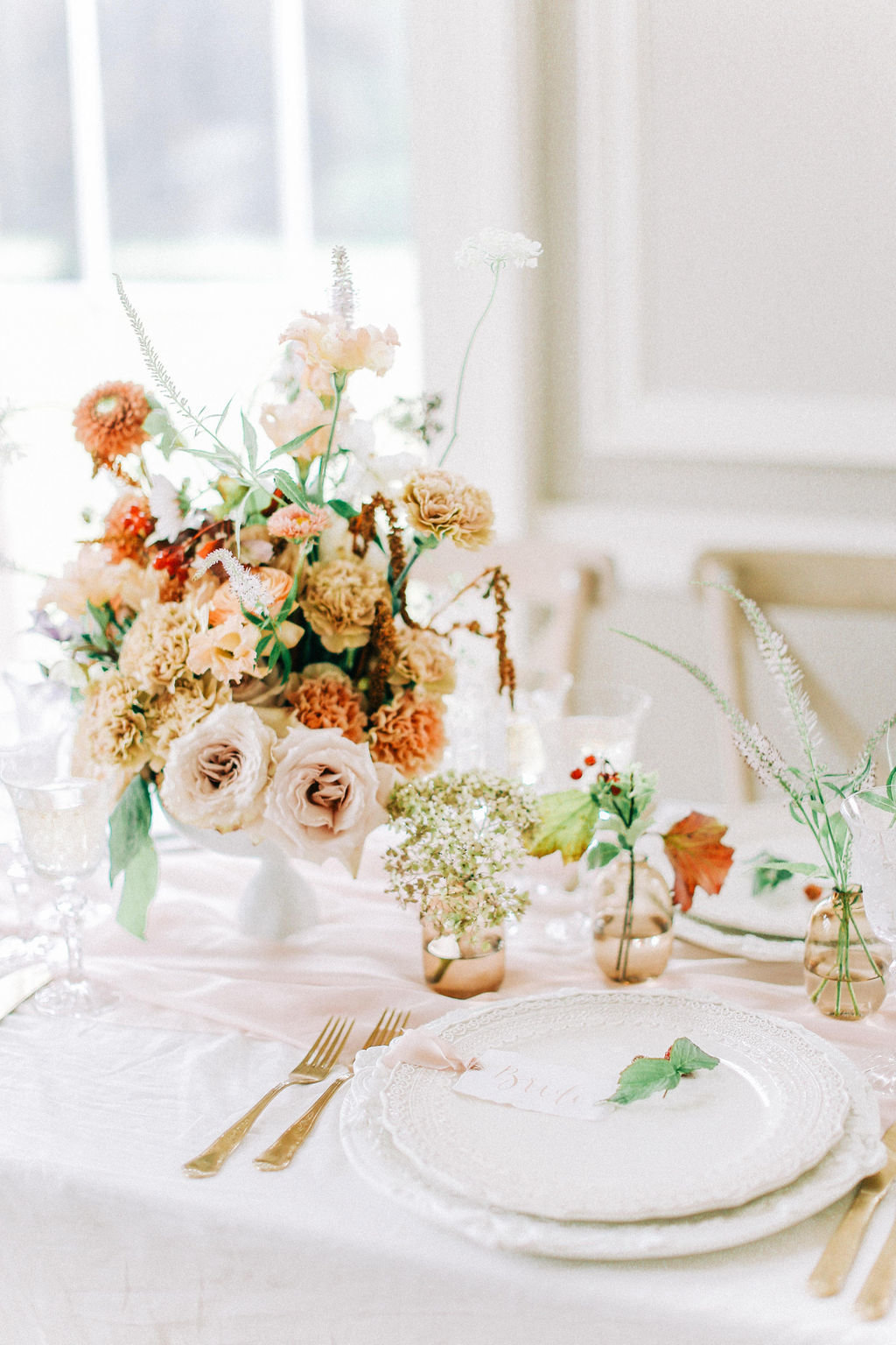 Autumn Wedding Floral Centrepieces