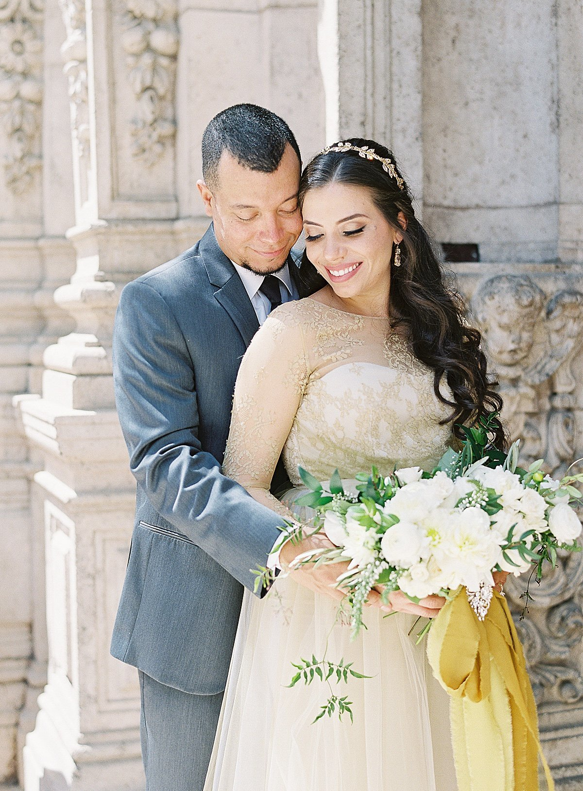 Posh Peony Mission Inn Lush Gray and Gold Greenery Wedding Flowers_0020