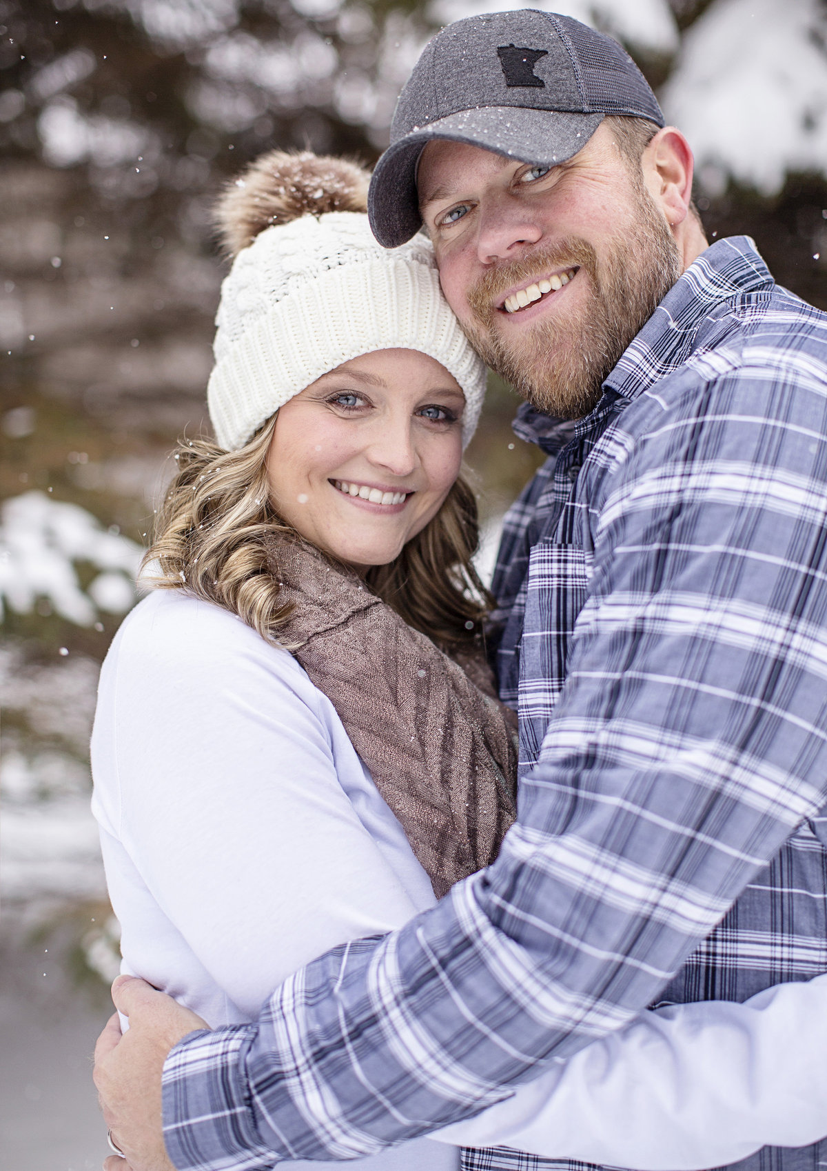 anniversary couples photo,  winter couples session