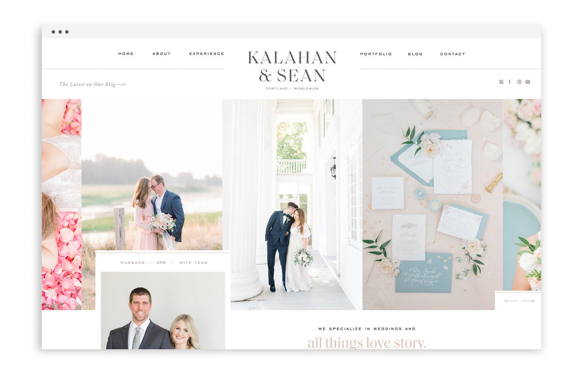 Kalahan and Sean - Custom Brand and Showit Website Design by With Grace and Gold - Best Showit Designer Template Templates Themes - 22