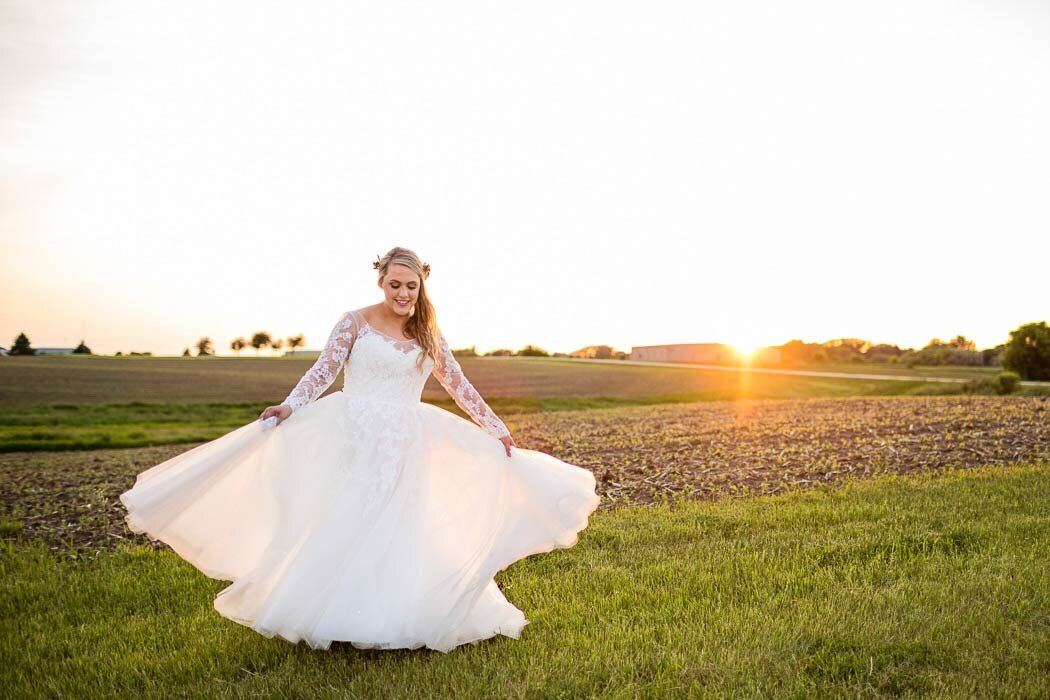 Courtney seemed to float through the golden hour on this day.  Such a beautiful bride.