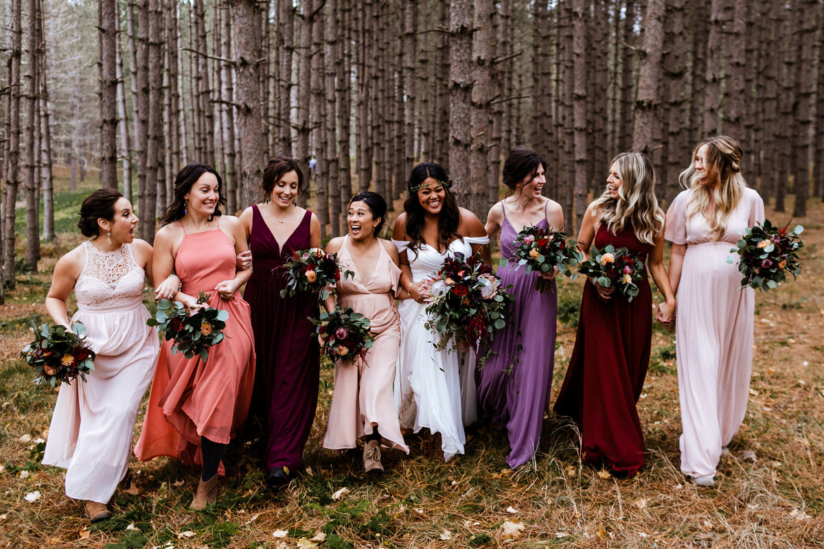 Northwoods-Wedding-Bridesmaid-Dresses-Photographer