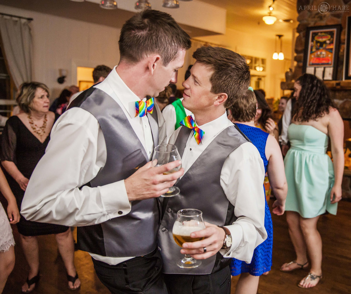 Chatuauqua Dining Hall Colorado Gay Wedding Reception in Boulder Colorado