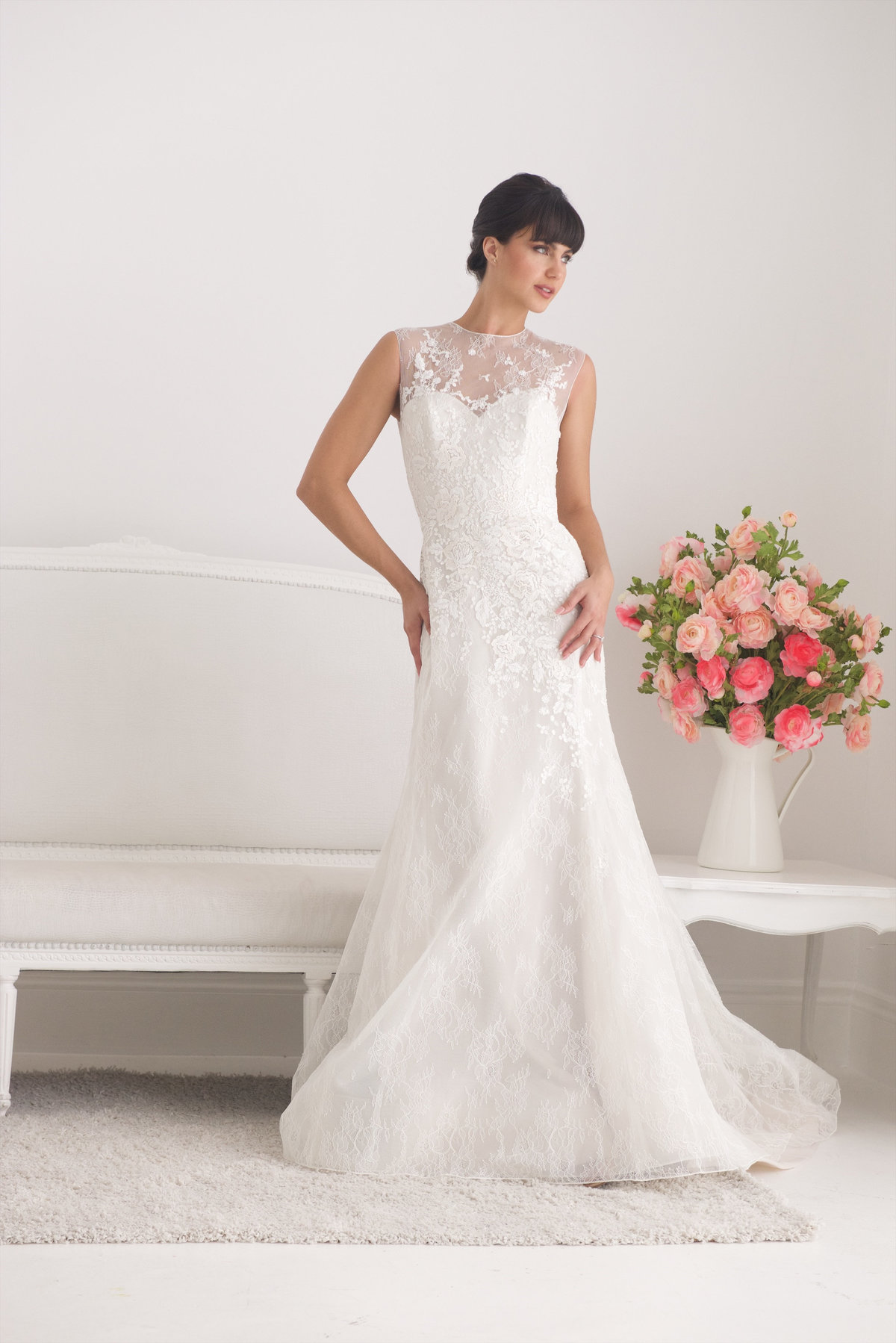 Liancarlo Lace Illusion Fitted Wedding Dress