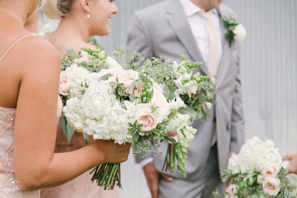 Bridal party bouquets at 1880 Union Hotel Wedding