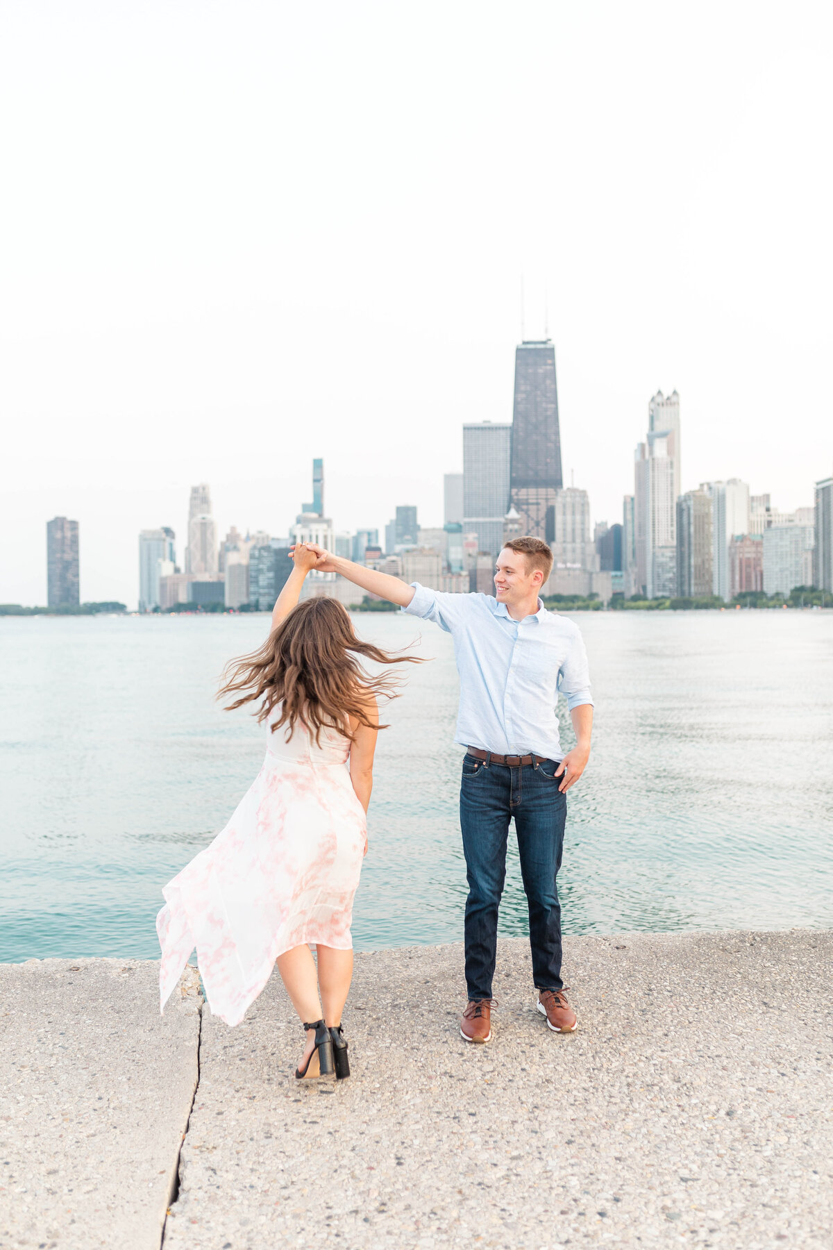 North Avenue Beach Engagement Photos60035