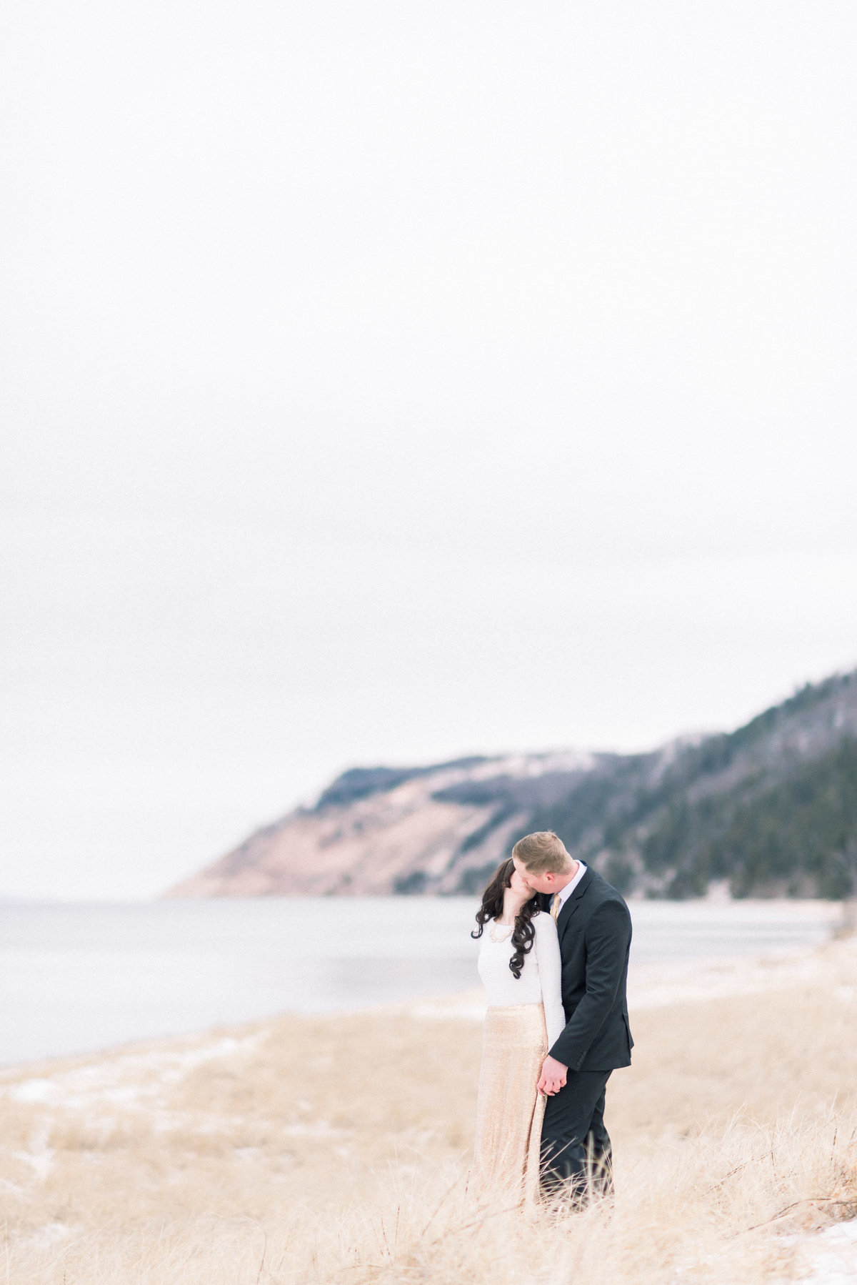 Traverse City beach engagement photographer