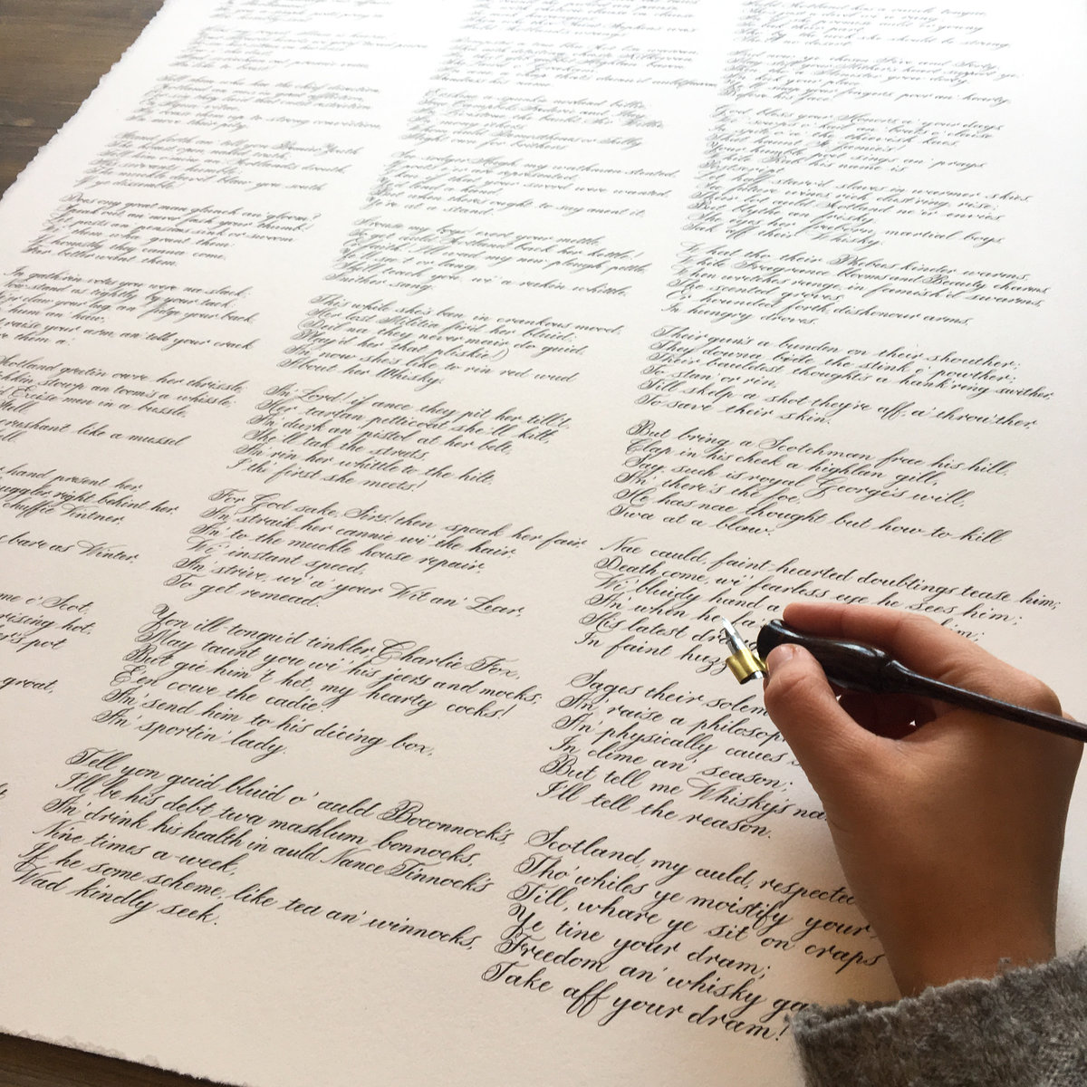 Large poem written in calligraphy| Jenni Liandu Calligraphy