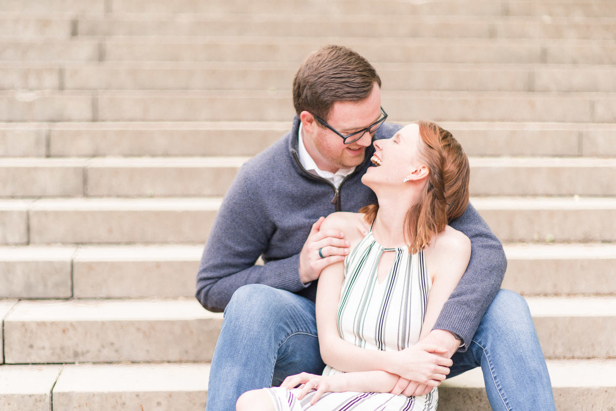 Cait Potter Creative LLC Holcomb Gardens Spring Engagement Photos-11