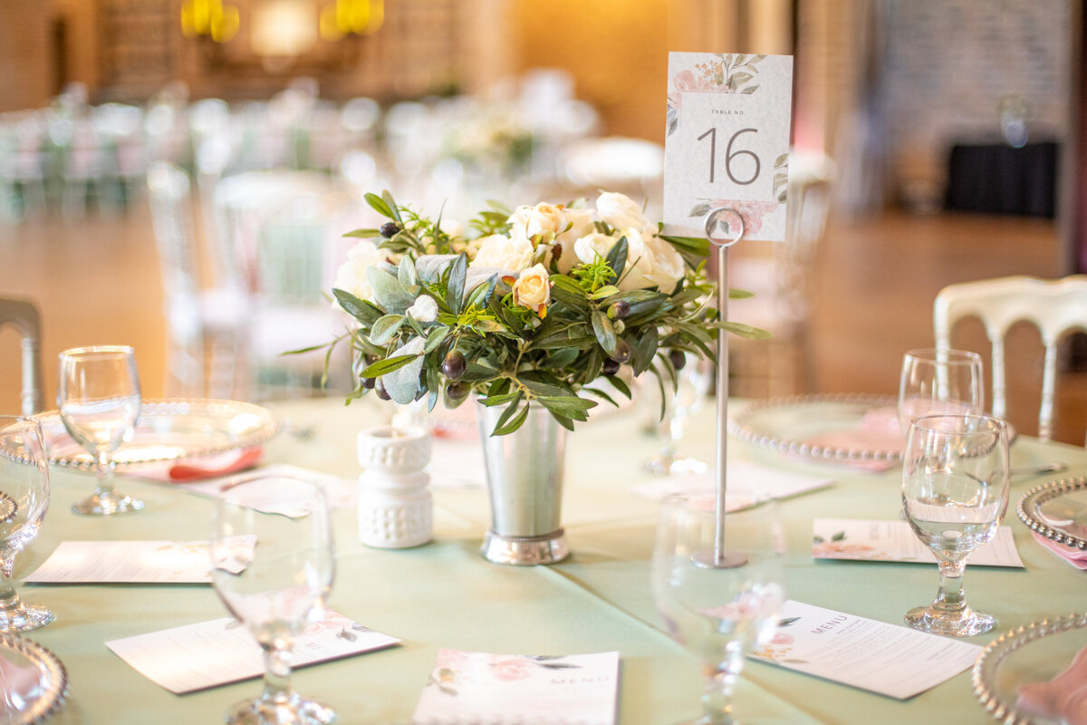 Pastel Table Decor at Iron Manor in Montgomery, TX