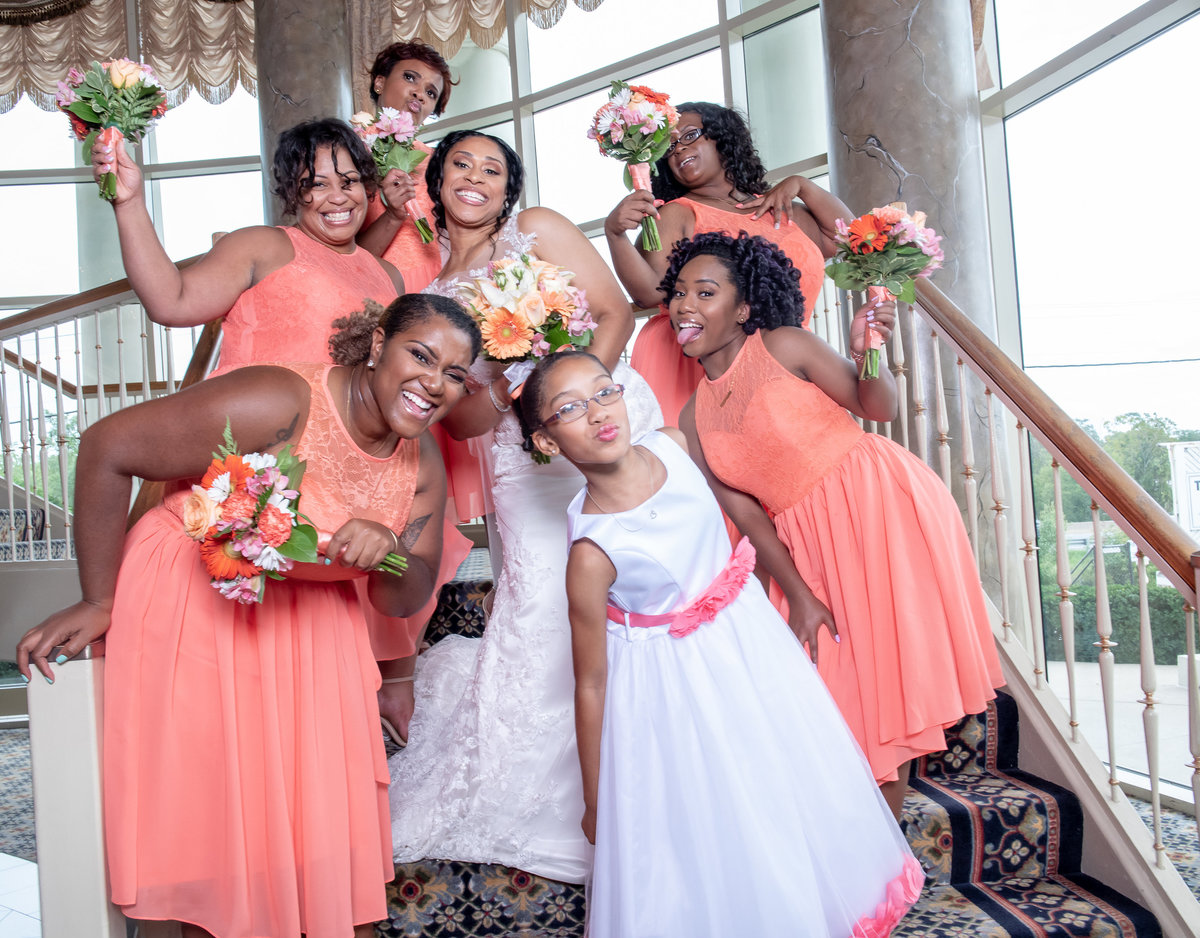Bride and the Girls have Fun Martins West