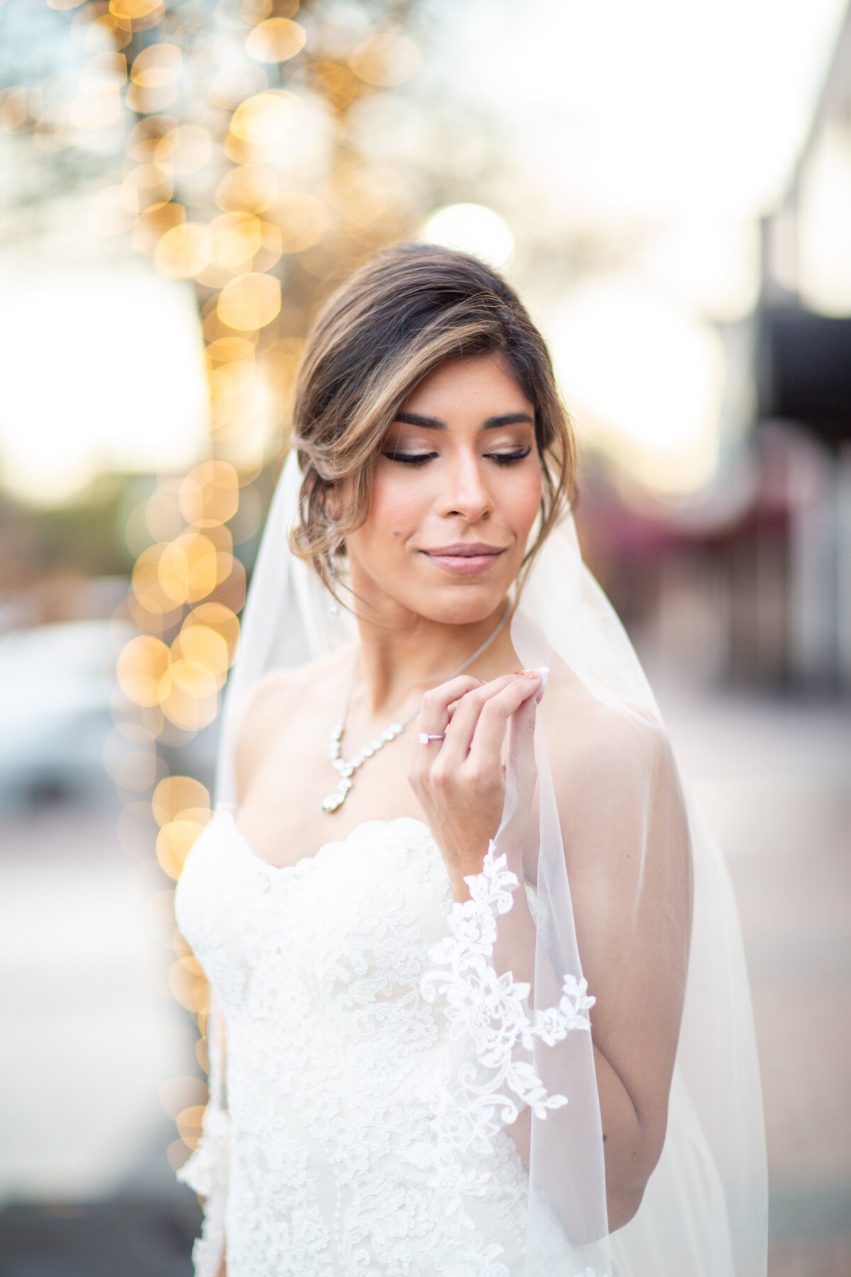 Gorgeous City Bridal Portraits in Sugarland, TX
