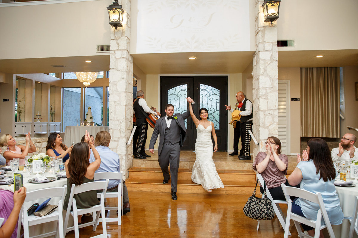 Austin wedding photographer casa blanca on brushy creek bride groom reception entrance