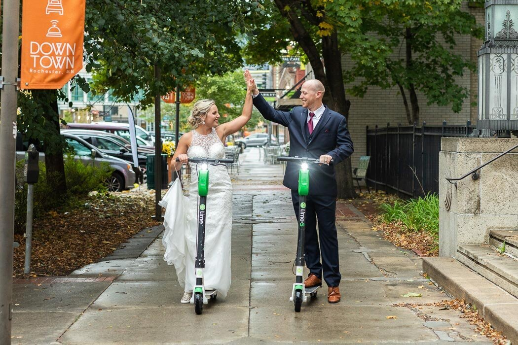 Lime scooter rentals included in all wedding collections!  If you have the desire to do something unique and different with your wedding photography, look no further.  We want your images to showcase who YOU are, not couple #8,253