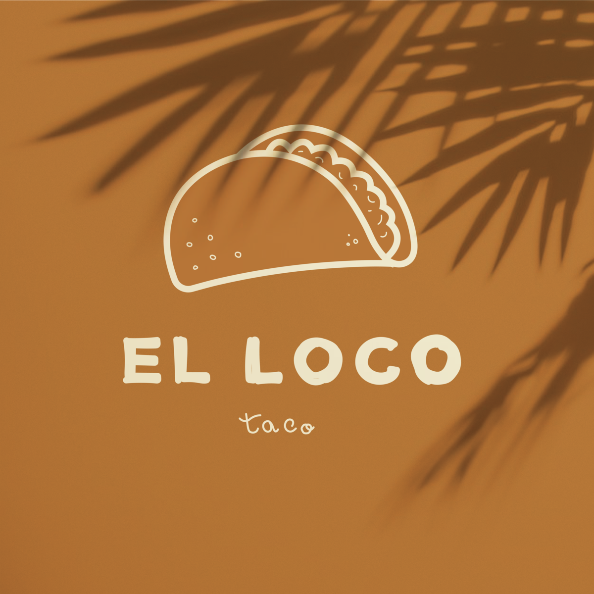 Logo design taco illustration icon