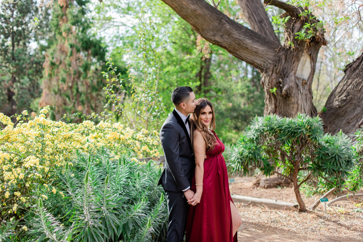 UC Riverside Botanical Gardens, Engagement Photography, Riverside Phototgrapher, Garden Engagement, Couple Photography, Red Dress-32