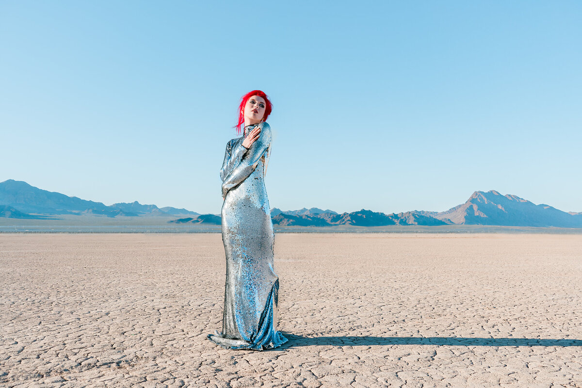 Project Obscura-Vogue silver dress 4-Chloe Darling Photography