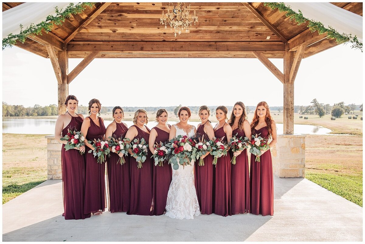 Rustic Burgundy and Blush Indoor Outdoor Wedding at Emery's Buffalo Creek - Houston Wedding Venue_0673