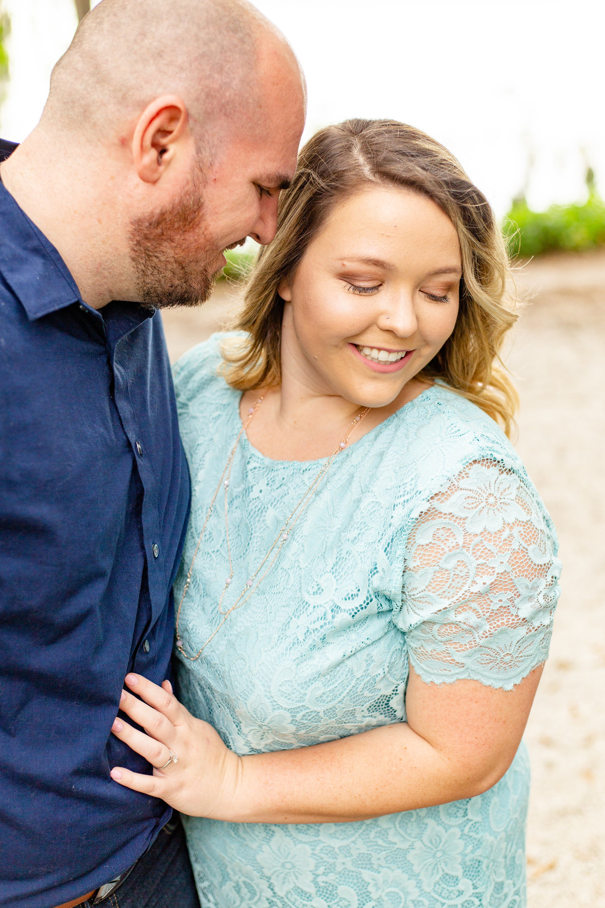 Couple at engagement session in Orlando, Florida