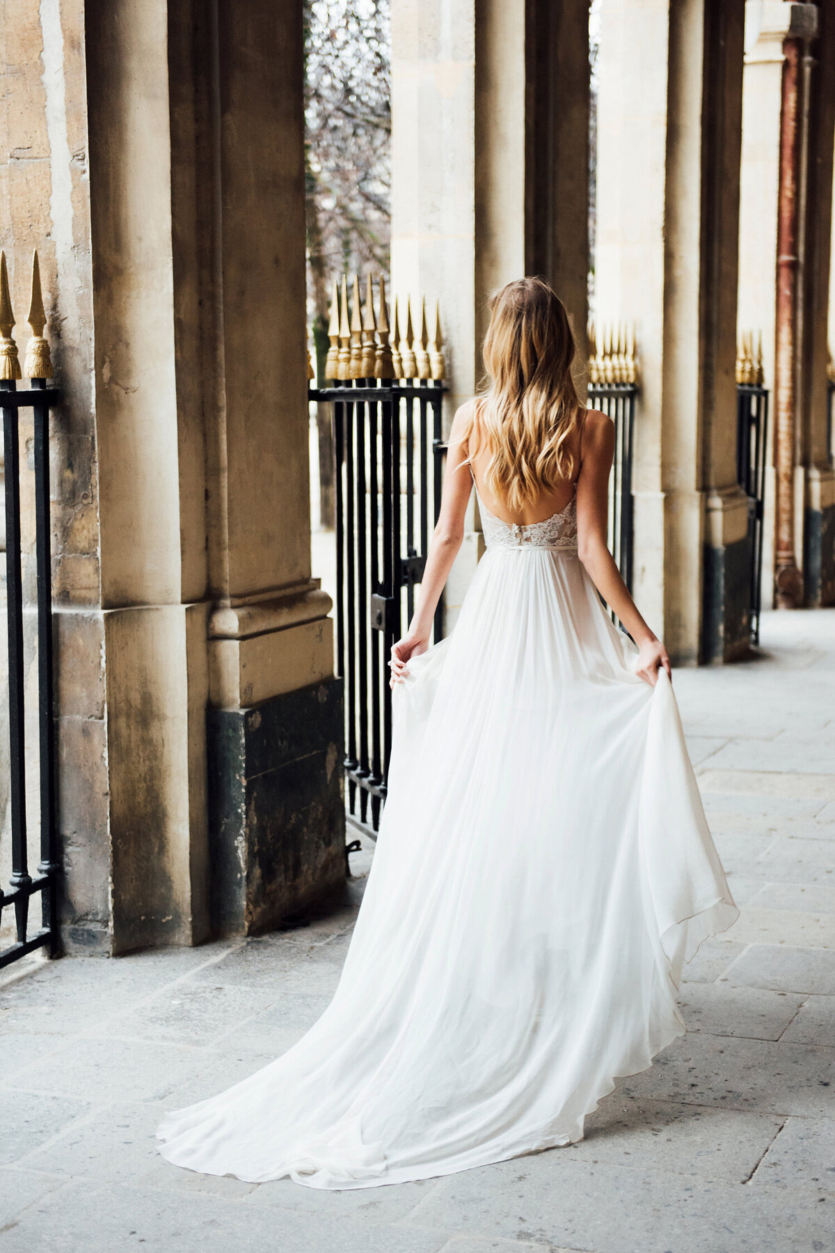 Katie Mitchell, Monique Lhuillier Bridal Paris France Wedding Trine Juel Hair and makeup 18