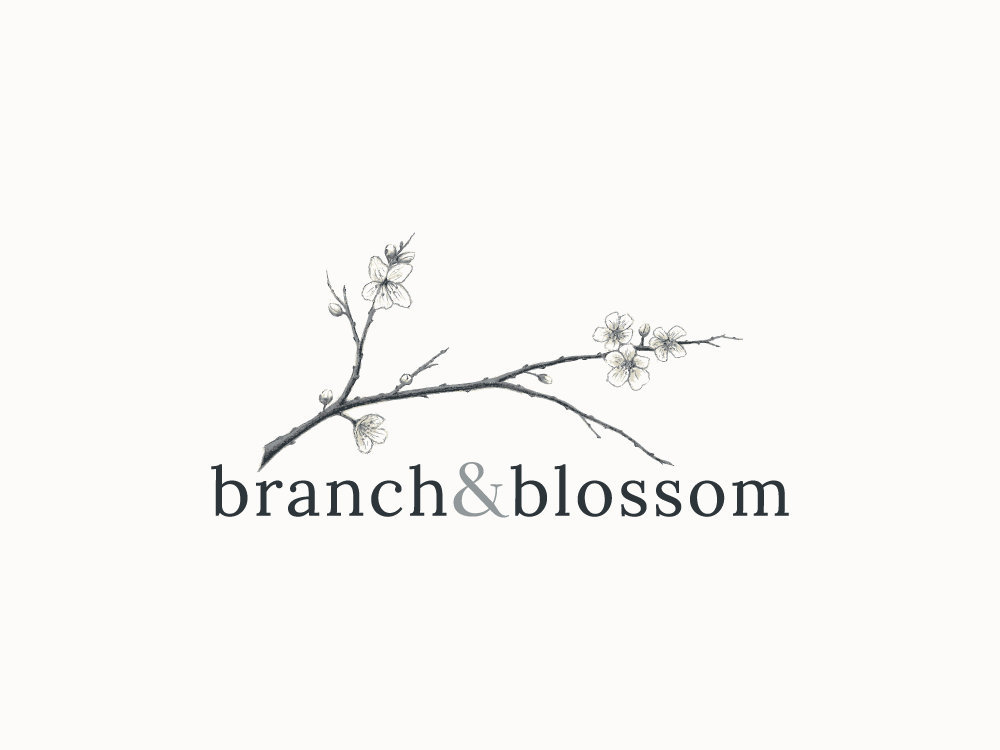 Logo Design for Florist Branch and Blossom