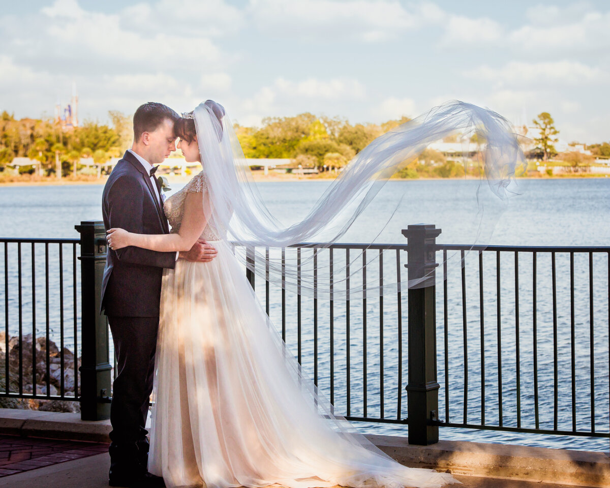 Bride and Groom at the Grand Floridian