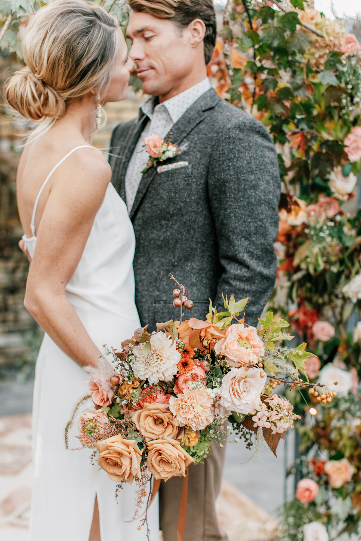 Magdalena Studios Bohemian Stylish and Chic Fall Wedding at Terrain Anthropologie_45