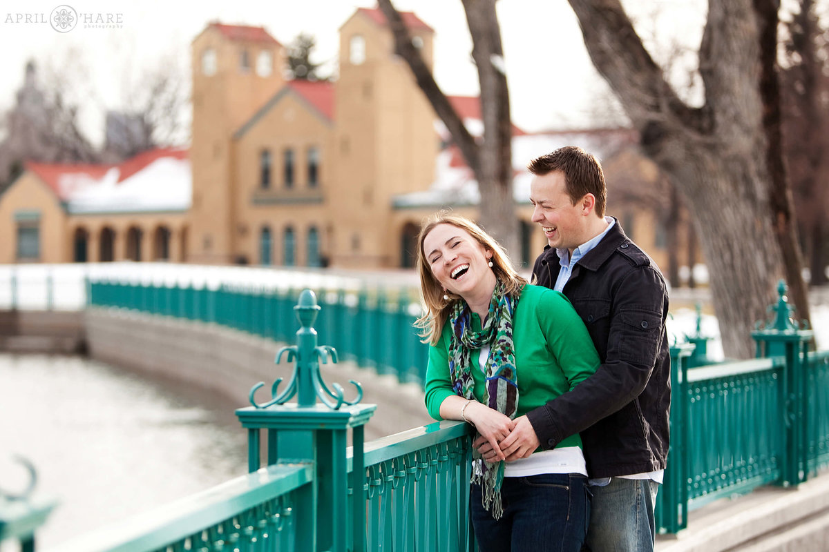 Denver Engagement Photographer at City Park during Winter in Colorado