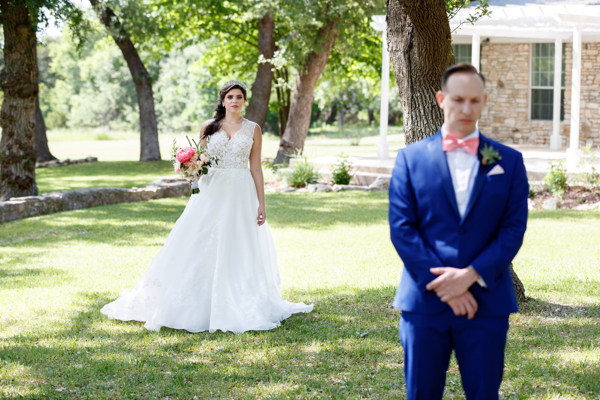 Austin wedding photographer addison grove wedding photographer bride groom first look