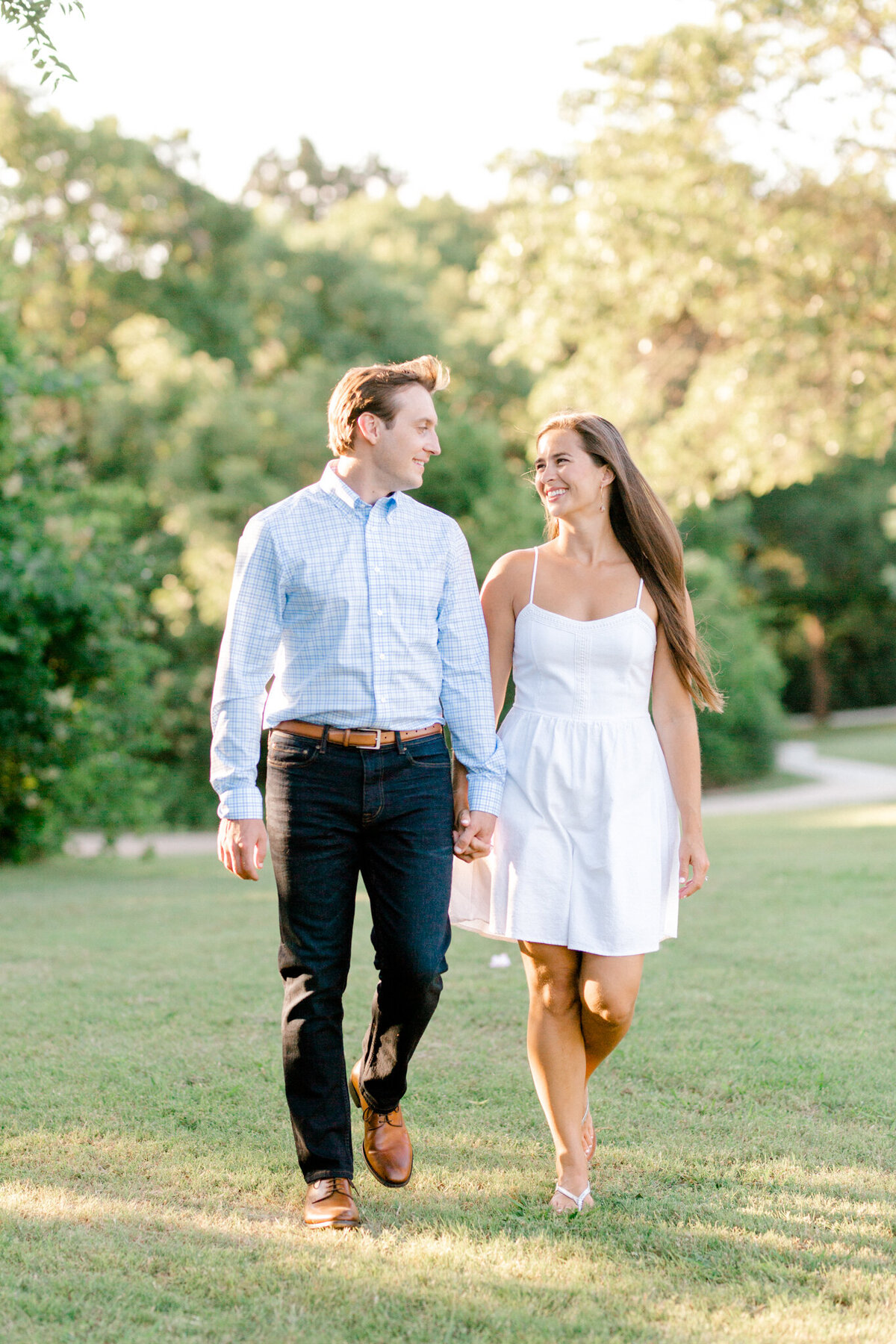 Christina & Steven Engagement Session at Prairie Creek Park in Richardson, Texas | DFW Wedding Photographer | Sami Kathryn Photography-5