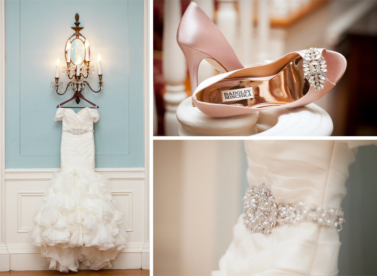 TFWC Mansion wedding photographer bride details dress shoes 2312 San Gabriel St, Austin, TX 78705