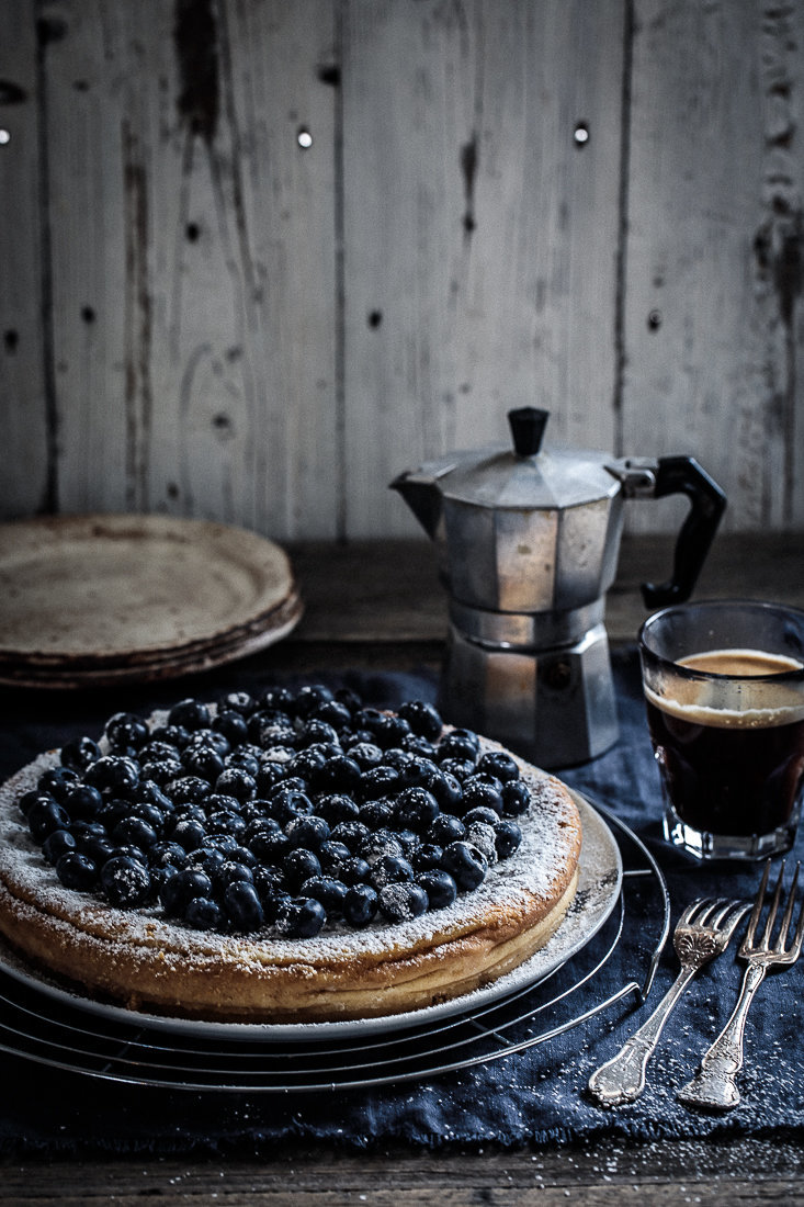 White Chocolate Ricotta Cheesecake with Blue Berries | Anisa Sabet | The Macadames-2-14