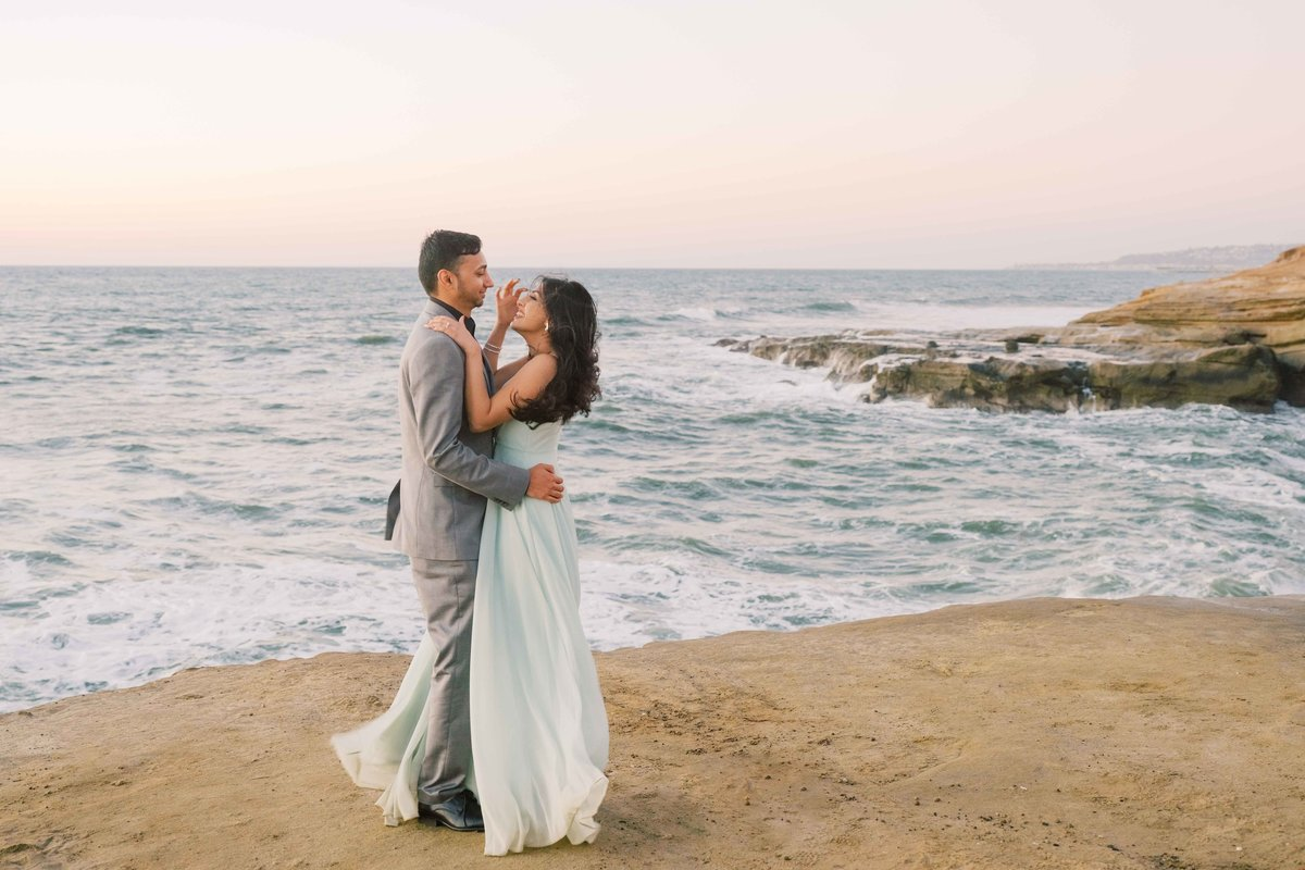 Babsie-Ly-Photography-San-Diego-Proposal-Engagement-Sunset-Cliffs-Indian-Couple-Dog-Surprise-008