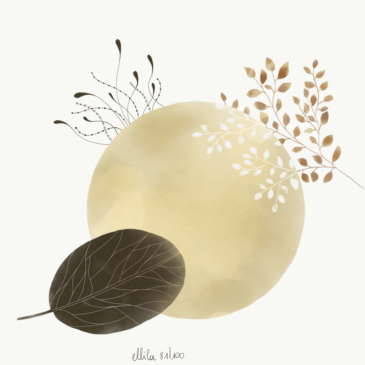 gold illustration ellila designs